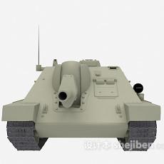 灰色坦克3d模型下载