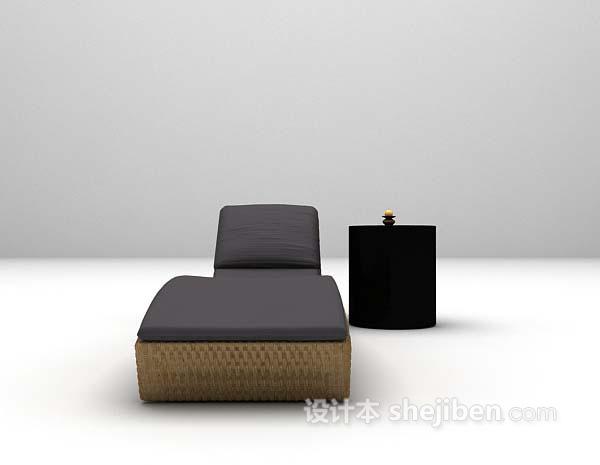 长形休闲椅3d模型下载