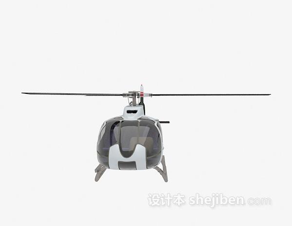 黑色直升机3d模型下载
