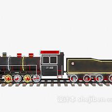 儿童玩具古董火车3d模型下载