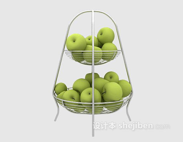 果盘水果3d模型下载