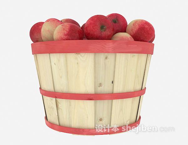 木桶果盘3d模型下载