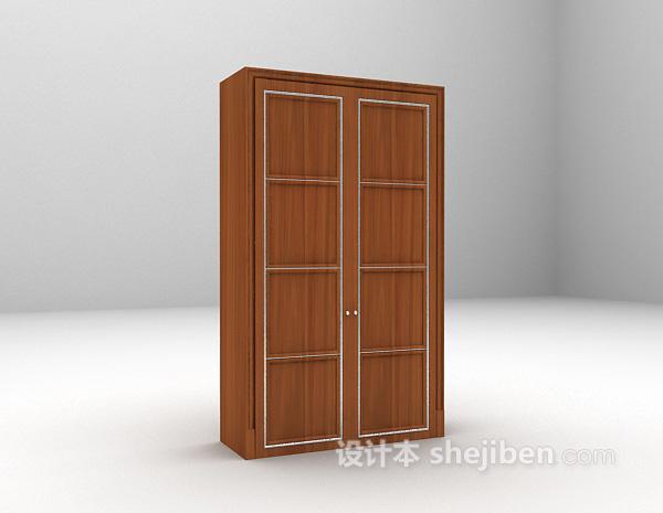 现代衣柜3d模型下载