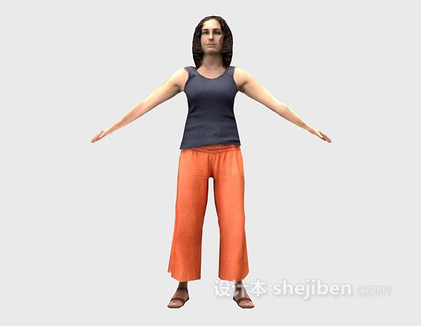 女士3d模型下载