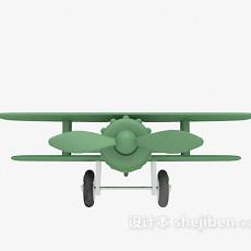 绿色玩具飞机3d模型下载