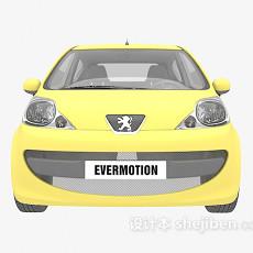 黄色小Q车3d模型下载