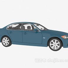 蓝色车辆3d模型下载