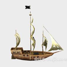 海贼帆船3d模型下载