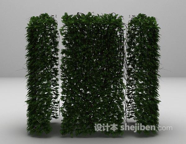 室外藤蔓植物3d模型下载