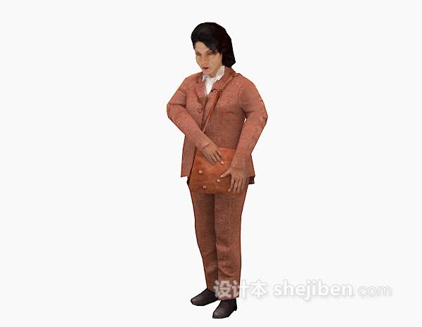 提包女士3d模型下载