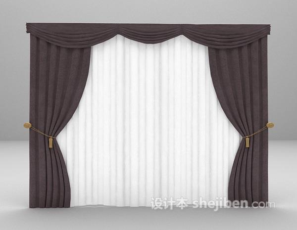 装饰窗帘3d模型下载