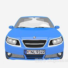 蓝色汽车3d模型下载