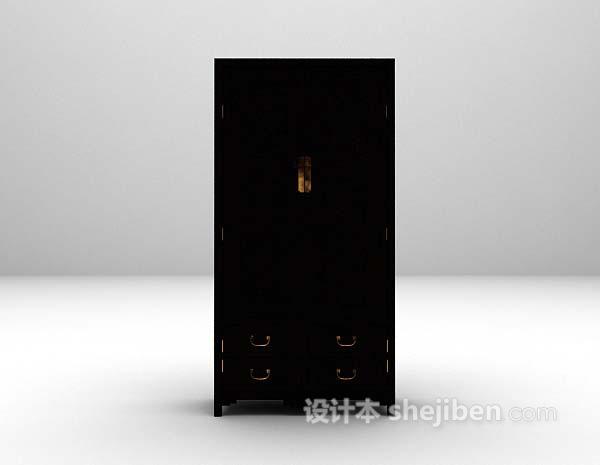 黑色衣柜3d模型推荐