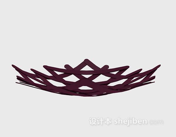 紫色果盘3d模型下载