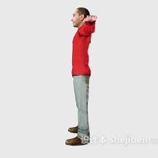 红色衣服你男人3d模型下载