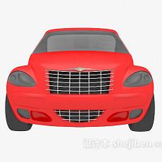 红色私家车3d模型下载