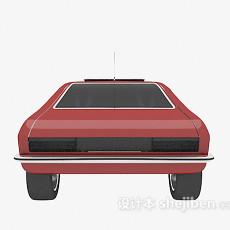 红色汽车max3d模型下载