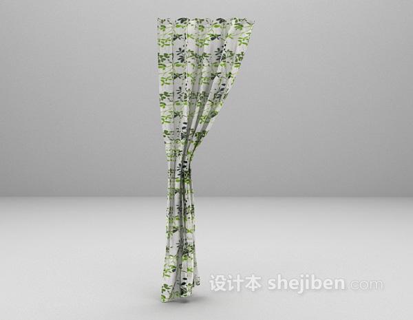 小清新窗帘+3d模型下载
