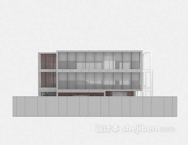 现代豪华别墅3d模型下载