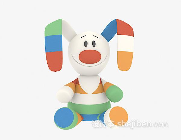 儿童玩具兔子模型 3d模型下载