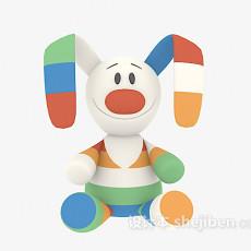 儿童玩具兔子 3d模型下载