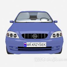 蓝色max汽车3d模型下载