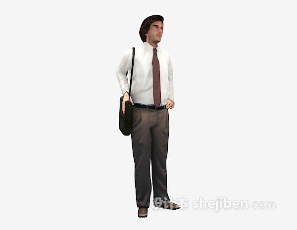 背包男人3dmax人物模型下载