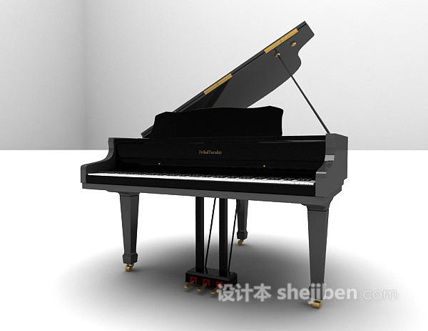 古典钢琴3d模型下载