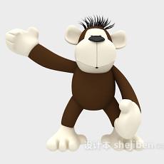 儿童玩具猩猩 3d模型下载