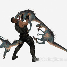 恐龙3d模型下载