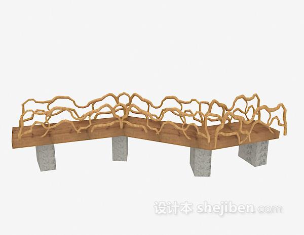 过道小桥3d模型下载