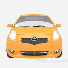 黄色汽车3d模型下载