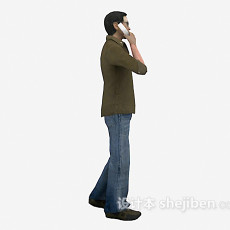 打电话男人的3d模型下载