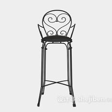 高脚椅3d模型下载