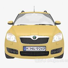 黄色汽车免费3d模型下载