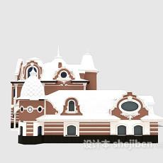 欧式古典别墅3d模型下载