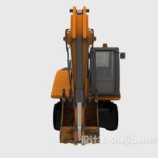 挖掘机黄色3d模型下载