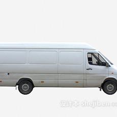 白色面包车 车3d模型下载