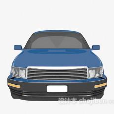 免费蓝色车辆3d模型下载