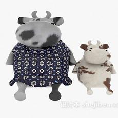儿童玩具牛 3d模型下载