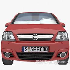 汽车红色3d模型下载
