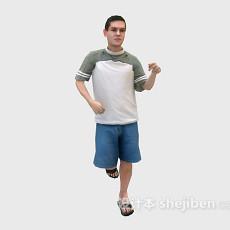 跑步男人3d模型下载