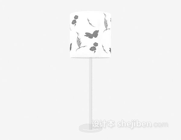 现代白色台灯3d模型下载