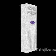 白色立式空调3d模型下载