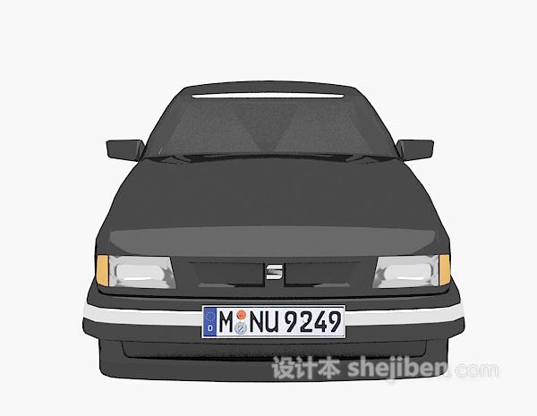 车辆黑色模型3d模型下载