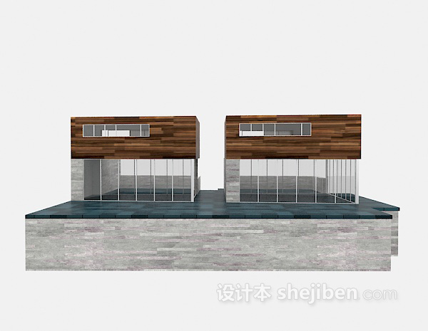 现代别墅3d模型下载