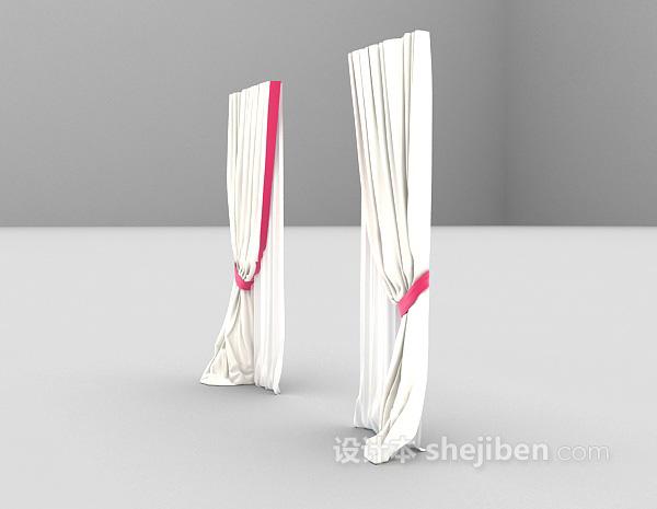 落地窗帘3d模型下载