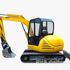 挖掘机免费3d模型下载