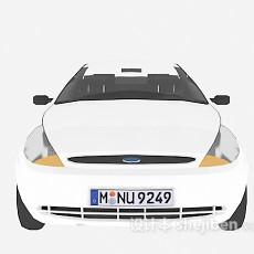 白色小车辆3d模型下载