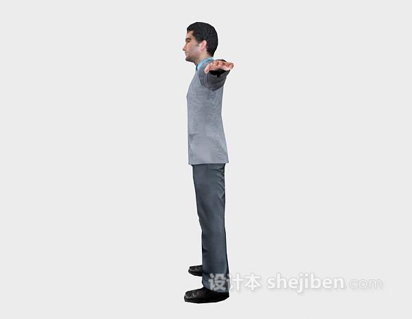 站立男人3d人物模型下载
